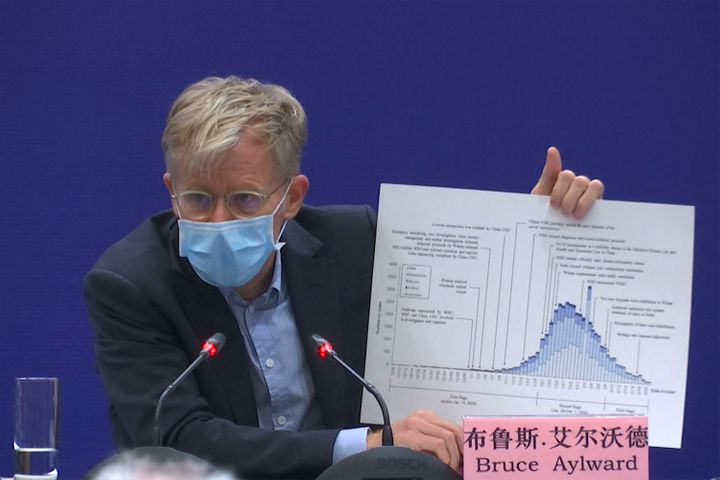 Bruce Aylward, assistant director-general of the World Health Organization, speaking at a news conference in Beijing on Monda