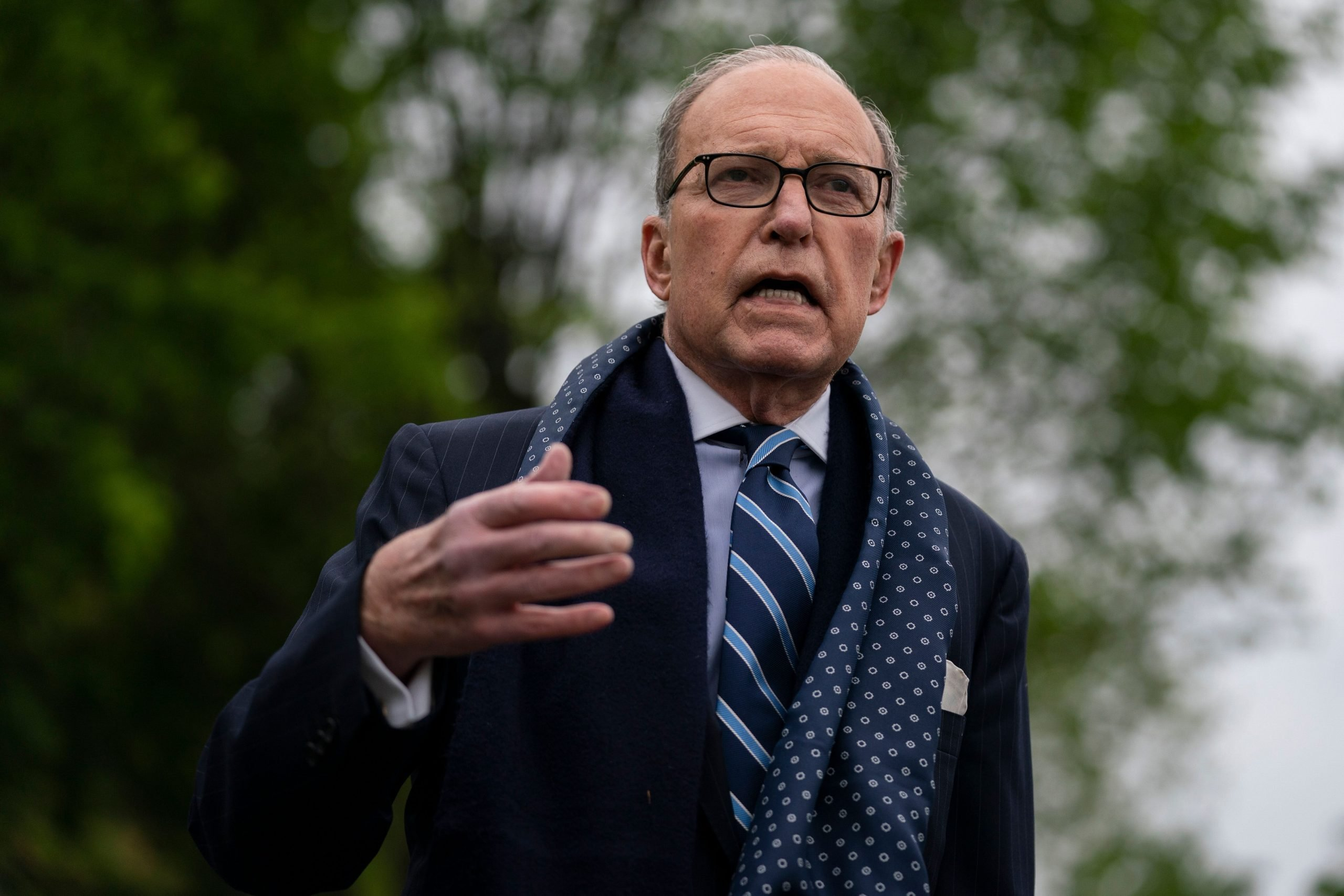 White House Economic Adviser Larry Kudlow said Wednesday that businesses should not be held liable if workers contract the co