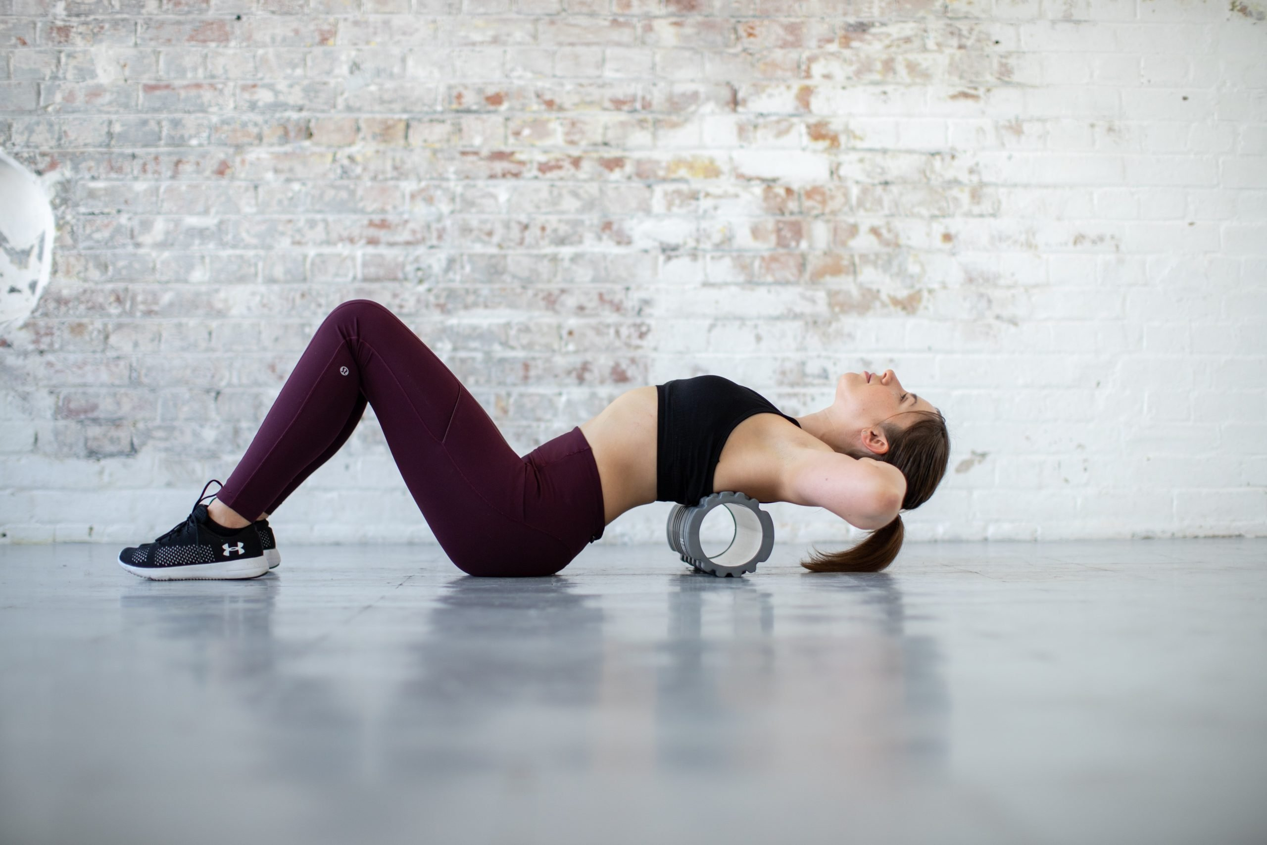 Finola back stretches foam roller