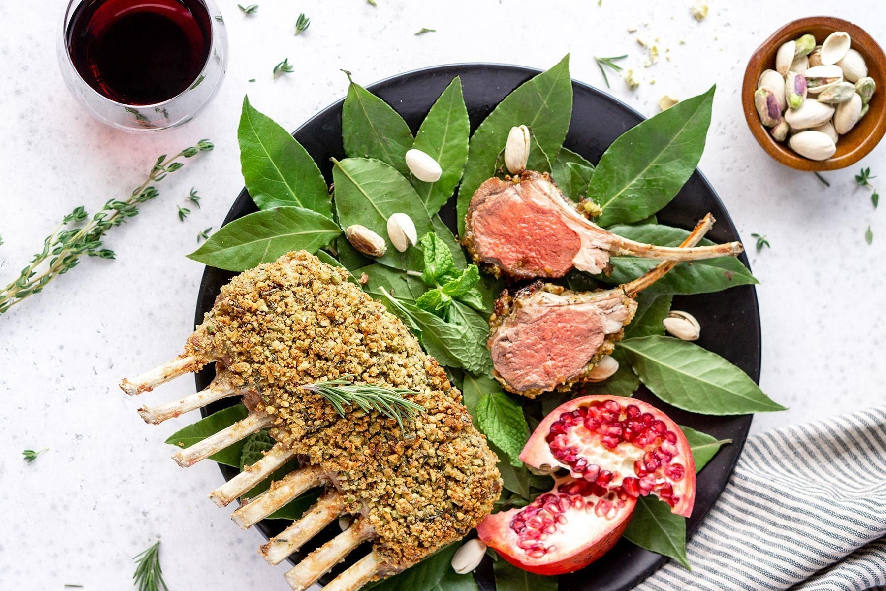 Pistachio-and-Parmesan-Crusted Rack of Lamb