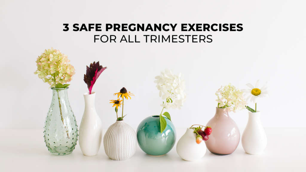 picture of safe pregnancy exercises