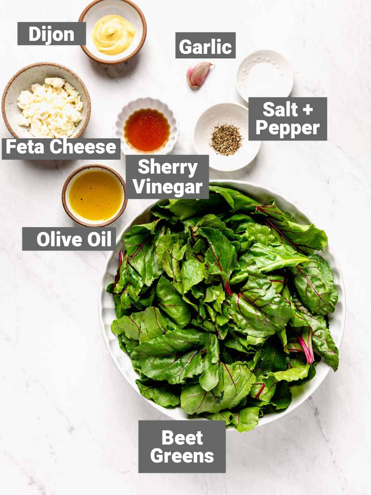 ingredients for this recipe with labels